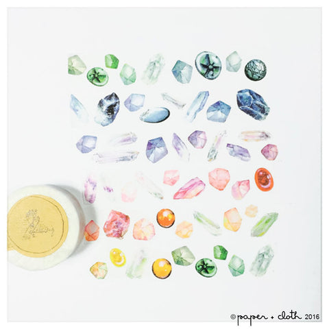 Gemstone Wide Washi Tape - Lin Chia Ning