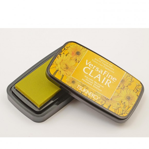 TSUKINEKO Versa Fine Claire Ink Pad - Golden Meadow (951) Quick-drying Oil-based Pigment Stamp Pad