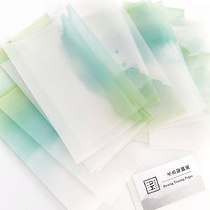 MU Print Dyed Look Tracing Papers - 25 sheets - Early Morning Green