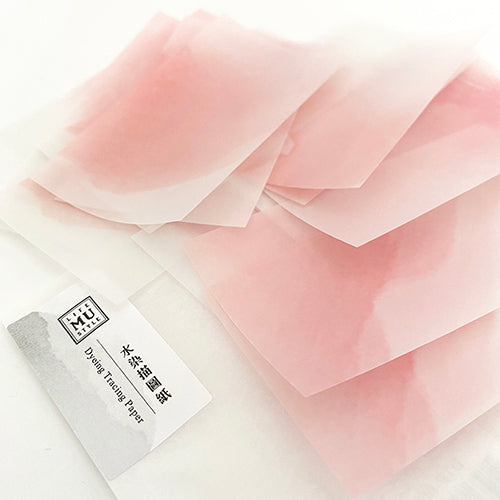 MU Print Dyed Look Tracing Papers - 25 sheets - Spring Pollen Pink