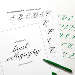 Intermediate Brush Calligraphy Workshop with EP Lettering