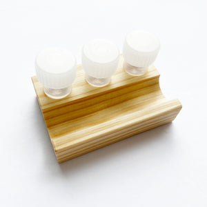 Wooden Dinky Dip - Mini 3 Vial Stand and Pen Rest