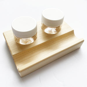 Pre Order - Wooden Dinky Dip - Jumbo Double 1/2oz Ink Container, Stand and Pen Rest