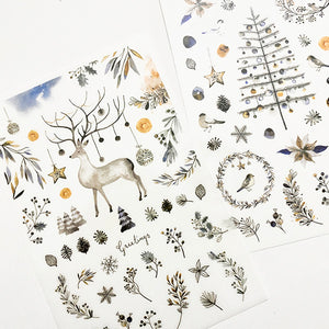 MU Print On Sticker Transfer - Silver White Christmas Season - MU Pro / 102