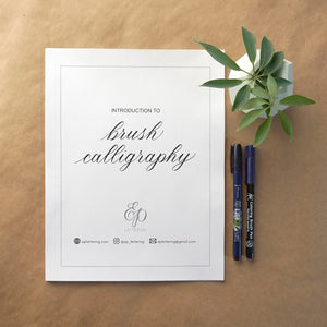 Intro to Brush Calligraphy Workshop with EP Lettering
