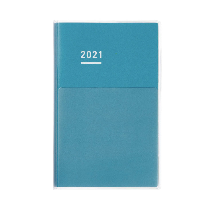 Pre Order: Kokuyo Jibun Notebook DAYS Mini 2021 - BLUE