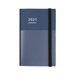 Pre Order: Kokuyo Jibun Techo First Kit Standard Cover 2021 - A5 Slim - Indigo
