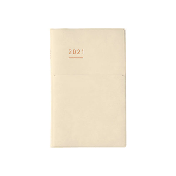 Pre Order: Kokuyo Jibun Notebook MINI 2021 Diary - Cream