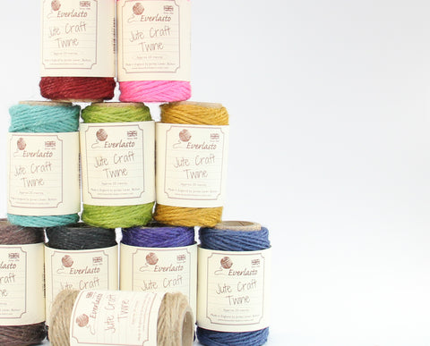 Jute Twine Set of 10 - Organic Jute Twine from Everlasto - 200m