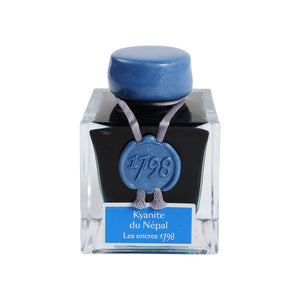 J. Herbin Fountain Pen Ink - 1798 Collection 50 ml Bottle - Kyanite du Nepal