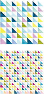 Midori Pattern Origami Paper - Watercolor Triangle Pattern