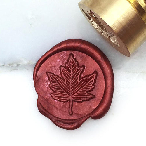 Wax Seal Stamp - Mister Robinson - Maple Leaf - 20mm