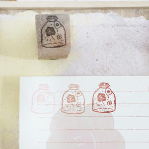 Black Milk Project Rubber Stamp - Mini Jar (Flower)