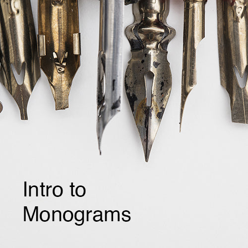 NEW DATE: Intro to Monograms - An ONLINE Workshop