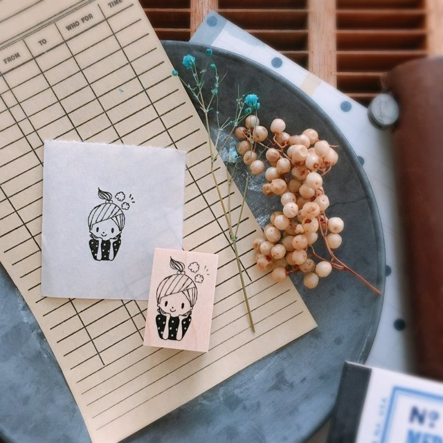 Nonnlala Rubber Stamp - Exciting NS-047