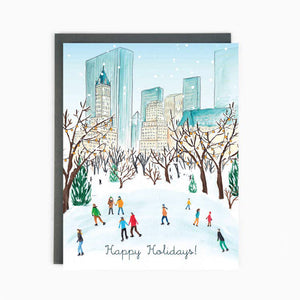 Made In Brockton Village Greeting Card - NYC Central Park Winter
