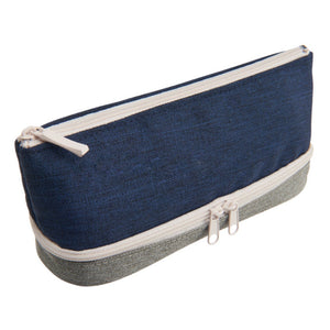 Raymay 2-layer Pen Case - Navy