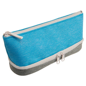 Raymay 2-layer Pen Case - Blue