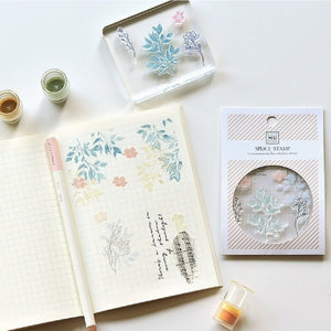 MU Print Stamp Set For Acrylic Blocks - No. 17 Light and Shadow Brush