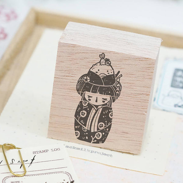 PRE ORDER: Black Milk Project Rubber Stamp - Onigiri Kokeshi