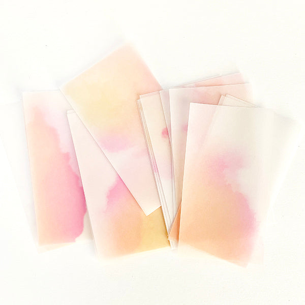 MU Print Dyed Look Tracing Papers - 25 sheets - Morning Glow Powder Orange Pink
