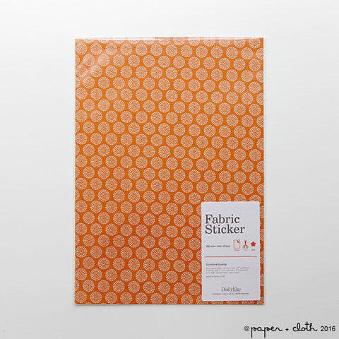Orange Graphic Fabric Sticker Sheet - Dailylike Beach Sunlight