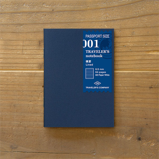 Traveler's Notebook Refill 001 - Passport Size - Lined