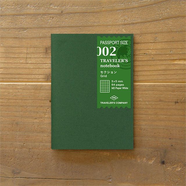 Traveler's Notebook Refill 002 - Passport Size - Grid