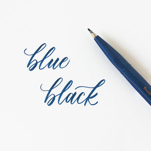 Pentel Fude Brush Marker - Blue Black