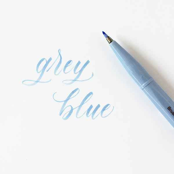 Pentel Fude Brush Marker - Grey Blue