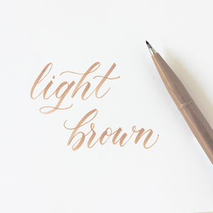 Pentel Fude Brush Marker - Light Brown