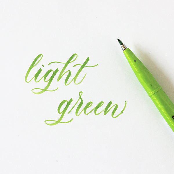 Pentel Fude Brush Marker - Light Green