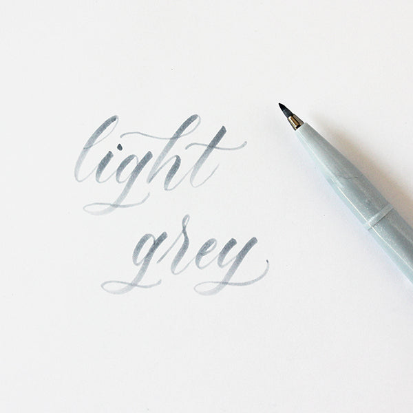 Pentel Fude Brush Marker - Light Grey