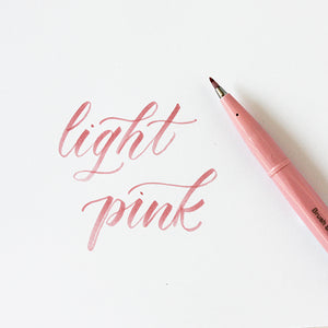 Pentel Fude Brush Marker - Light Pink