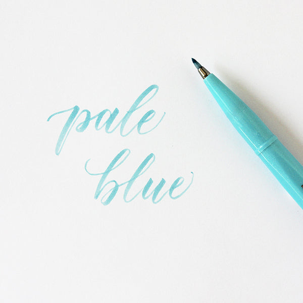Pentel Fude Brush Marker - Pale Blue