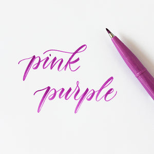 Pentel Fude Brush Marker - Pink Purple