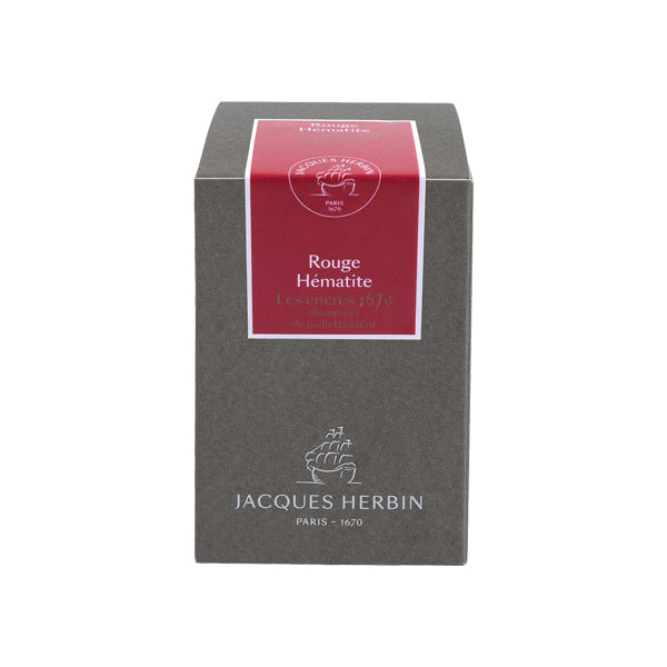 J. Herbin Fountain Pen Ink - 1670 Anniversary 50 ml Bottle - Scarlet Red