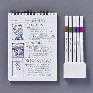 Uni EMOTT Ever Fine Fineliner Pen - 0.4mm - 5 Pen Set No. 3 Vintage Color