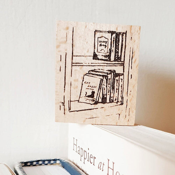 Yeon Charm Rubber Stamp - Bookshelf