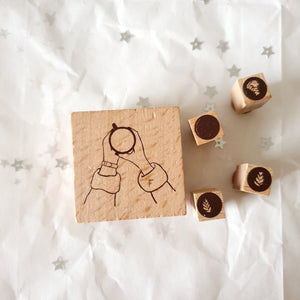 Yeon Charm Rubber Stamp - Coffee O'Clock
