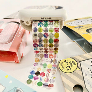 Kokuyo Karu Cut Washi Tape Cutter 20-25mm - Limited Edition Lace Pink