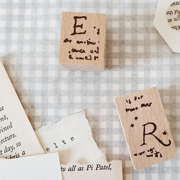 Yeon Charm Rubber Stamp - E and/or R
