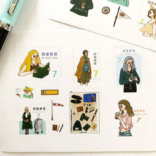 La Dolce Washi 2 Sheet Sticker Set - Bon Voyage
