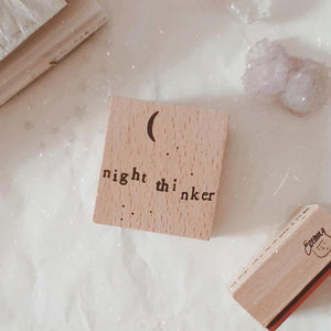 Yeon Charm Rubber Stamp - Night Thinker