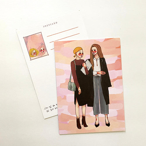 La Dolce Vita Postcard - Watercolor - Pink