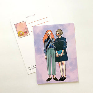 La Dolce Vita Postcard - Watercolor - Violet