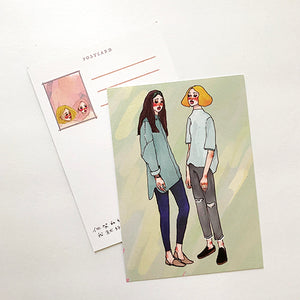 La Dolce Vita Postcard - Watercolor - Green
