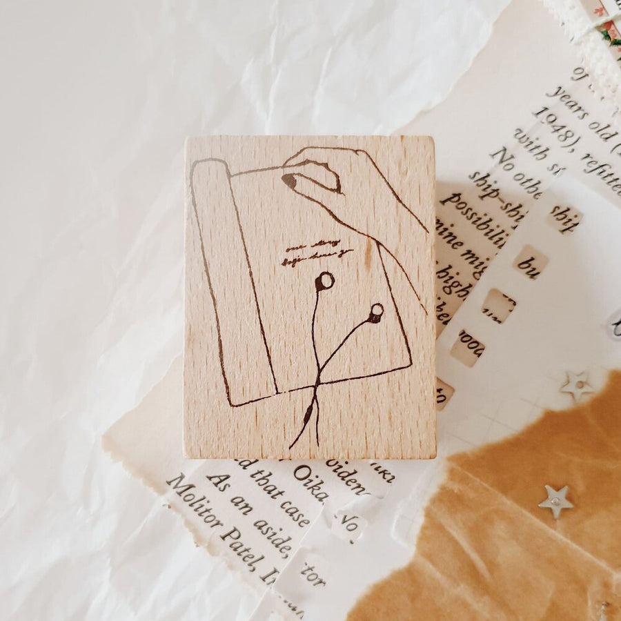 Yeon Charm Rubber Stamp - Reading