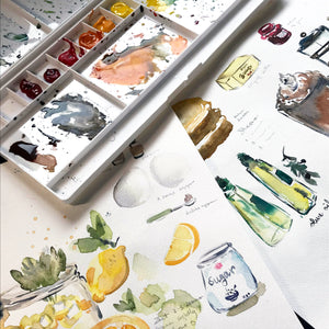 Intro to Watercolour - Food and Recipe Card Making! - April 9