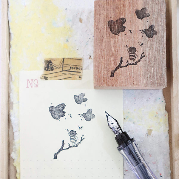 Black Milk Project Rubber Stamp - Bird's Paradise
